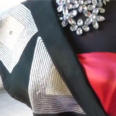 黒帯和ドレス